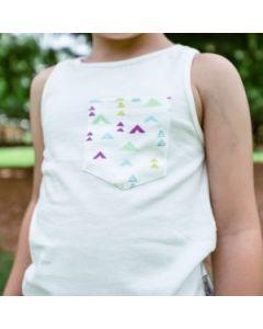 Organic Singlets | Children | Toddler | Sprinkles White Pocket