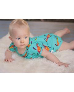 Organic baby clothing Australia | Short Sleeve Onesies | Weedy Sea Dragon | 000 - 1